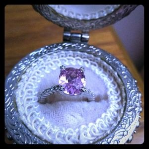 Pink & Silver Ring Size 7